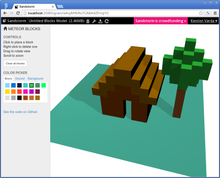 Meteor-blocks screenshot